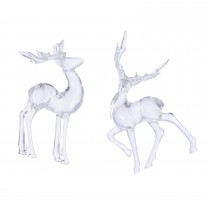 Acrylic Deer with Hanger , Clear