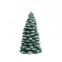 Wax Tree Candle with Glitter, Green/white