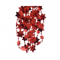 Plastic Bead Garland Stars, Christmas Red