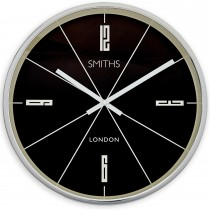 Brookpace Lascelles Smiths Downing Large Clock, Black