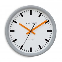 Brookpace Lascelles Swiss Grey Stationclock, Grey