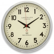Brookpace Lascelles Radio Controlled Clock Chrome, Chrome