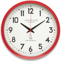 Brookpace Lascelles Radio Controlled Clock Red, Red
