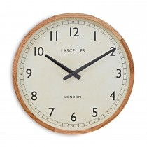 Brookpace Lascelles Wooden Case Traditional Clock, Oak, Off White
