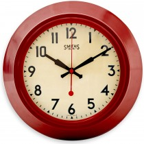 Brookpace Lascelles Red Metal Wall Clock, Red