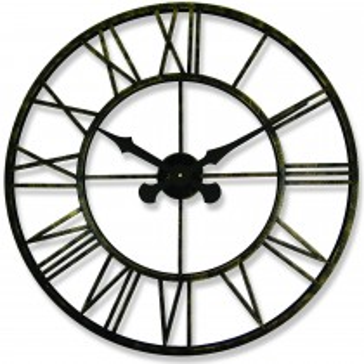 Brookpace Lascelles Vintage Outdoor Clock - 70cm, Vintage Rusty