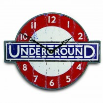Brookpace Lascelles Underground Wall Clock, Reb/navy/white