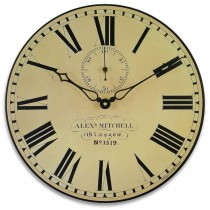 Brookpace Lascelles Station Wall Clock, Cream