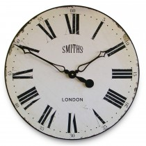 Brookpace Lascelles Large Smiths Clock White Face, Off White