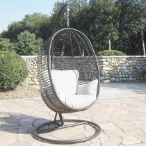 Pacific Lifestyle Tobago Outdoor Hanging Chair, Dark Brown