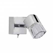 Blocs 1 Light Led Spotlight, Chrome