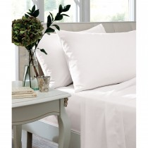 Turner Bianca Fitted Sheet Double, White