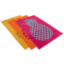 Vossen Sweet Pineapple Beach Towel, Primrose Pink