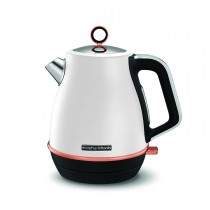 Morphy Richards Evoke Kettle, White Rose Gold