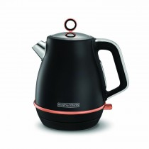 Morphy Richards Evoke Kettle Rose Gold Black, Black Rose Gold