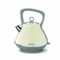 Morphy Richards Evoke Pyramid Kettle, Cream