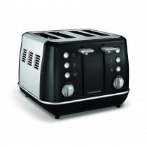 Morphy Richards Evoke 4 Slice Toaster Black, Black
