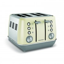 Morphy Richards Evoke 4 Slice Toaster, Cream
