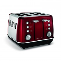 Morphy Richards Evoke 4 Slice Toaster, Red