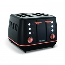 Morphy Richards Evoke 4 Slice Toaster Black, Black Rose Gold