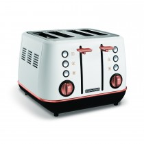 Morphy Richards Evoke 4 Slice Toaster White, White Rose Gold
