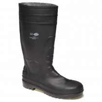Dickies Size 8 Safety Wellingtons, Black