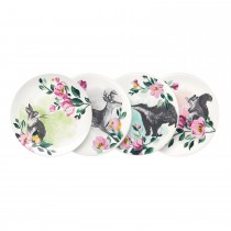 Cath Kidston Ceramic Coasters, Badgers And Friends Print