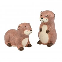 Cath Kidston Otter Salt And Pepper Shakers, Brown