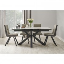 Casa Rimini Table & 4 Monza Chairs Dining Set