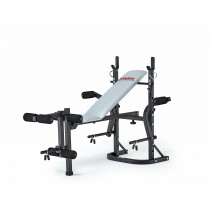 Bbe Boxing Barbell Fitness Bench, Black/silver