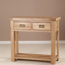 Casa Seville 2 Drawer Console Table, Oak