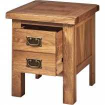 Casa Seville 1 Drawer Lamp Table, Oak