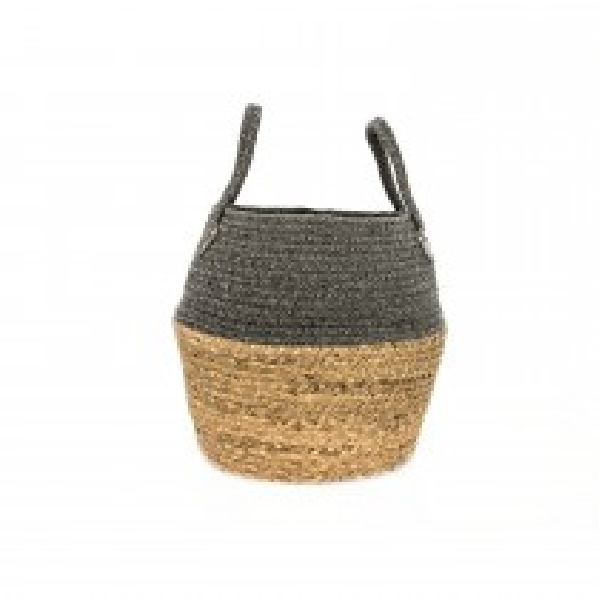 Casa Cotton & Grass Basket Large, Grey
