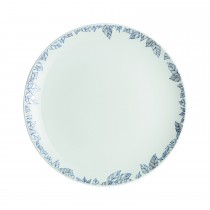 Denby Monsoon Fleur Dinner Plate, White/blue