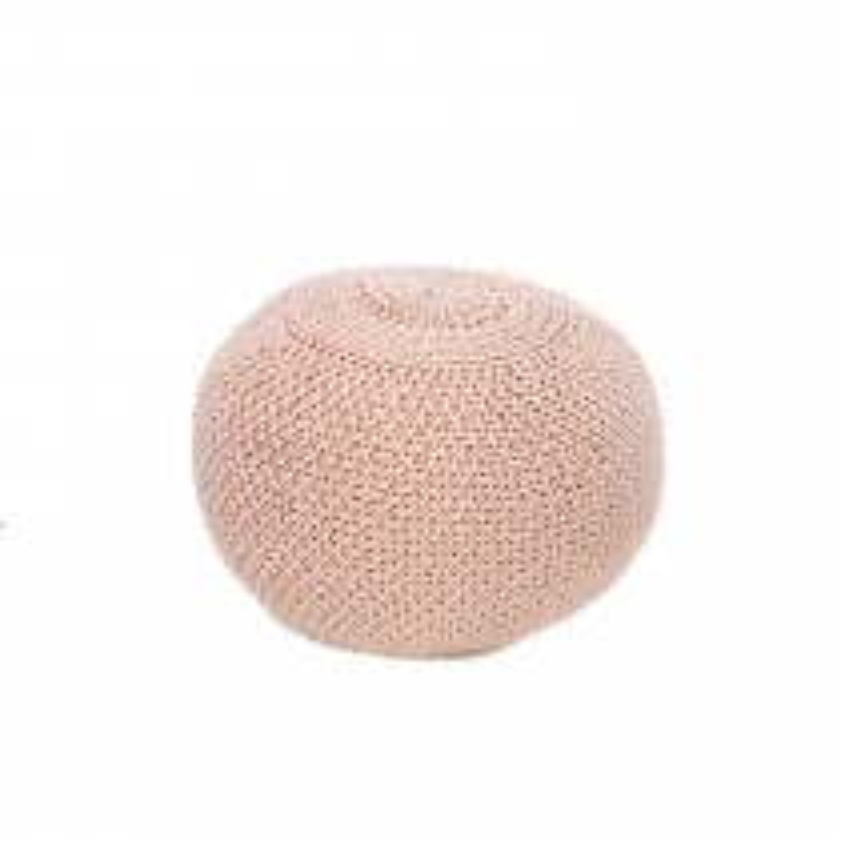Casa Knitted Wool Pouffe, Pink