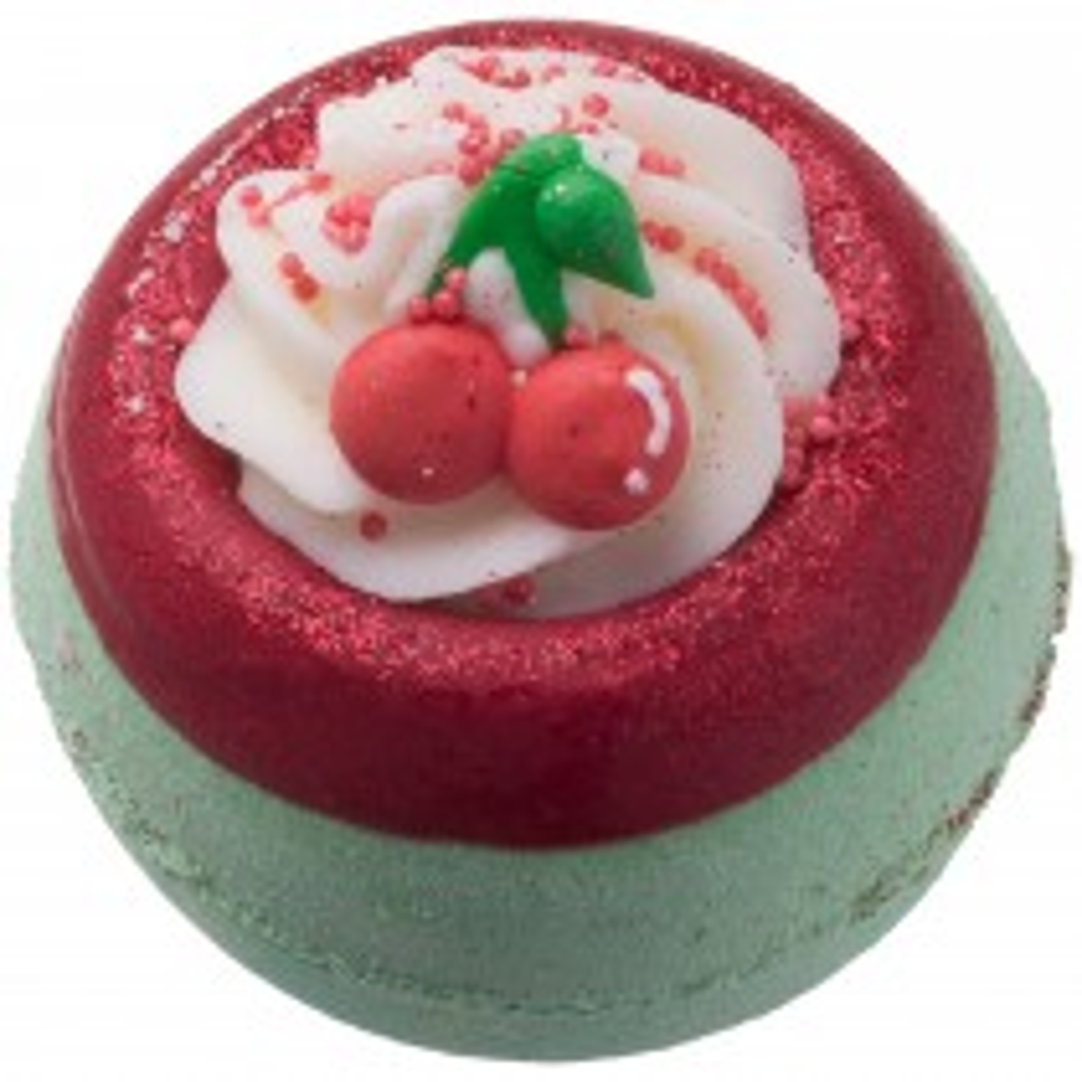 Bomb Cosmetics Cherry On Top Bath Blaster Bath Bomb, Red & Green