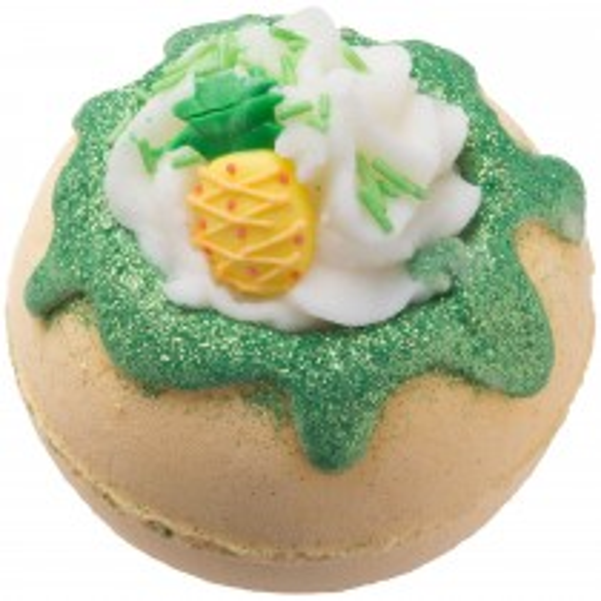Bomb Cosmetics You're One Fine-apple Blaster Bath Bomb, Yellow & Green