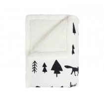 Mistral Winter Forest Sherpa Throw 130x170, White