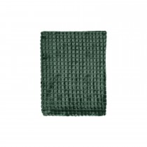 Mistral Tight Squares Flannel Throw, Green