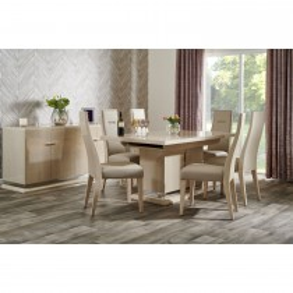 Casa Venezia 210cm Extending Table & 6 Dining Chairs