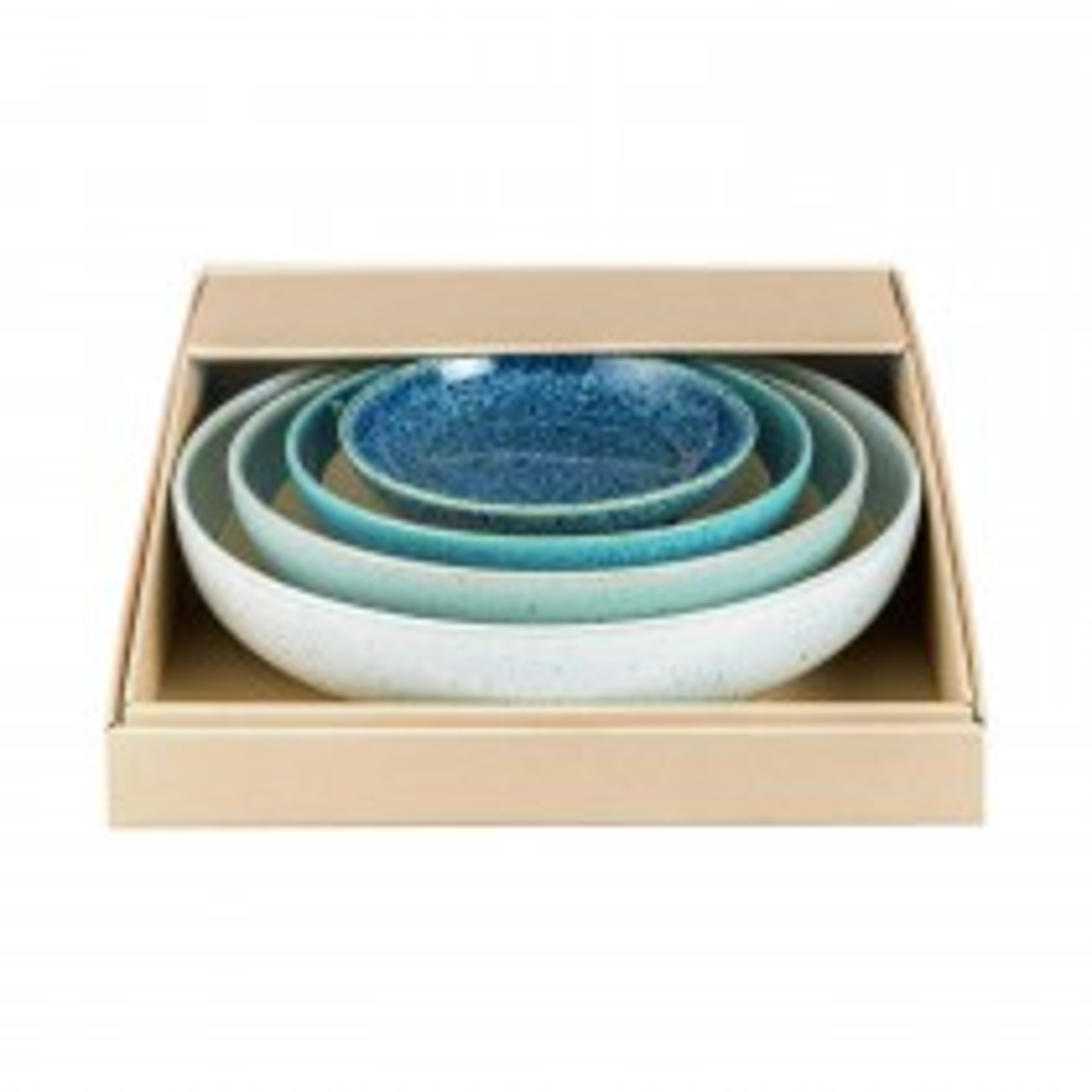 Denby Studio Blue Nesting Bowl Set, Blue