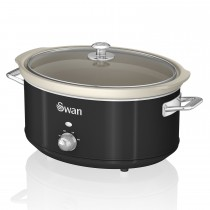 Swan 6.5l Slow Cooker Retro, Black