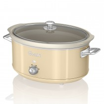 Swan 6.5l Slow Cooker Retro, Cream
