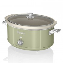 Swan 6.5l Slow Cooker Retro, Green