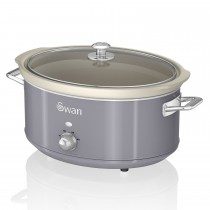 Swan 6.5l Slow Cooker Retro, Grey