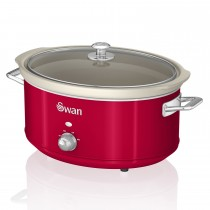 Swan 6.5l Slow Cooker Retro, Red