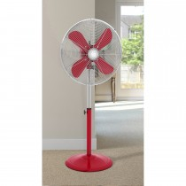 "Swan 16"" Retro Stand Fan, Red"