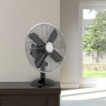 "Swan 12"" Retro Desk Fan, Black"