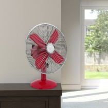 "Swan 12"" Retro Desk Fan, Red"