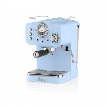 Swan Pump Espresso Coffee Machine, Blue